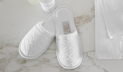 Diamond Velour Slippers