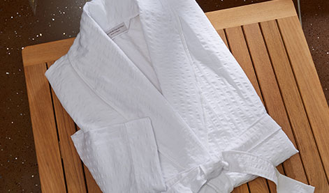 Seersucker Bath Robe