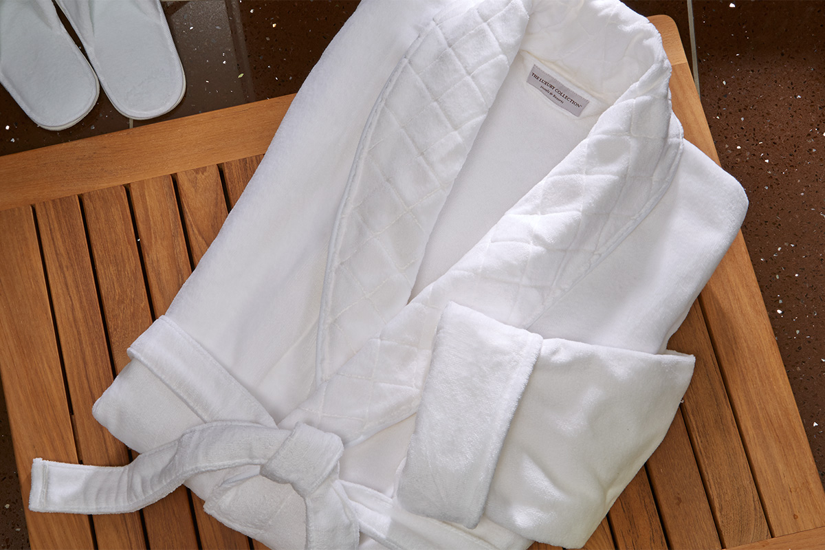 Velour Bath Robe Luxury Collection Hotel Store